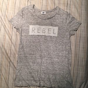 Soft gray REBEL tee